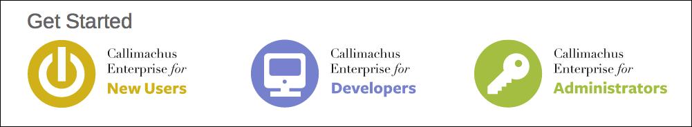 Callimachus Enterprise presentations.